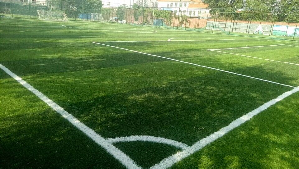 UV Resistant Football Pitch Astro Turf , Artificial Grass Soccer Field  Natural Sliding