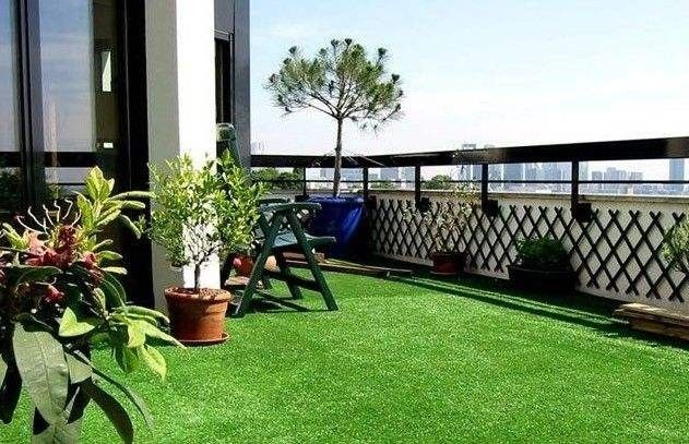 Nature Green Balcony Synthetic Grass / Soft Synthetic Cricket Turf