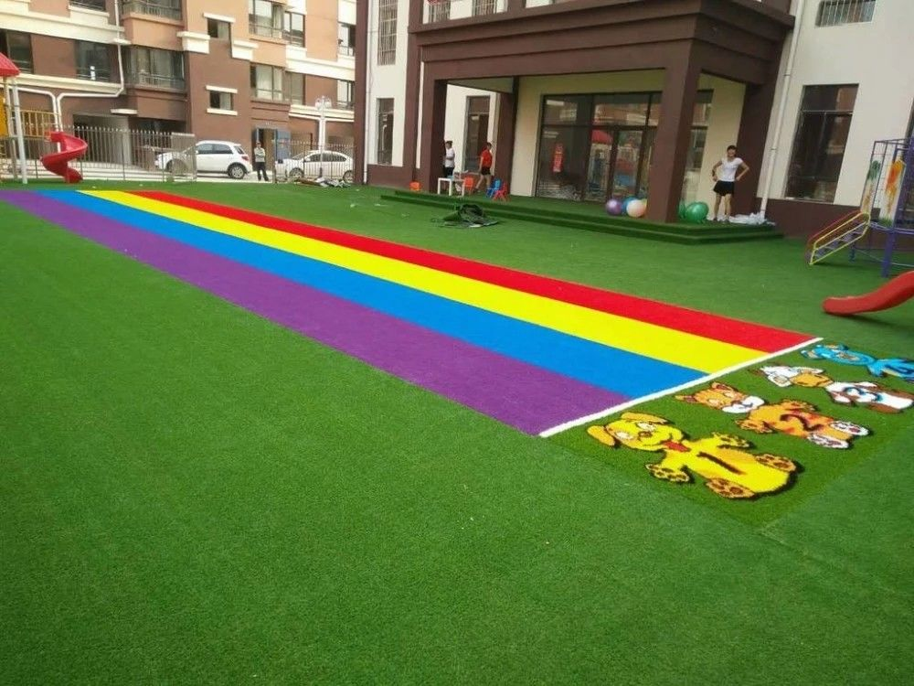 Decorative Coloured Artificial Grass Easy Installation And Maintanance