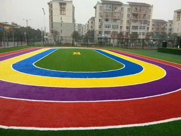 China Multi - Color Commercial Outdoor Fake Grass  For Playground  25mm Height factory