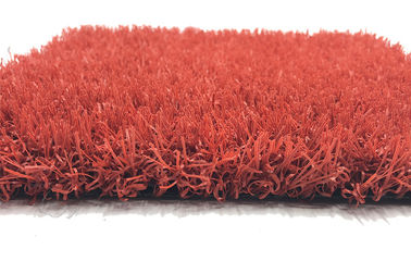 Red Pet Friendly Sports Synthetic Grass  Backyard Wear Resistant