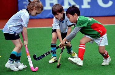 China Safe Cricket Sports Artificial Grass Hockey Filed Double Layer Pp Long Service Life factory