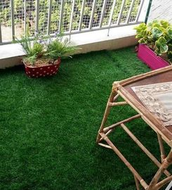 China Perfect  Stripe Artificial Grass Synthetic Lawn Turf  Warehouse Smooth factory