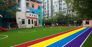 China Anti - Ultraviolet Recycled Artificial Turf  For Playground 10-20 Mm Height factory
