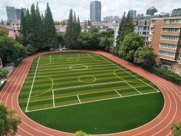 China Eco Friendly  Playground Synthetic Grass / Outdoor Artificial Grass Playground Surface factory