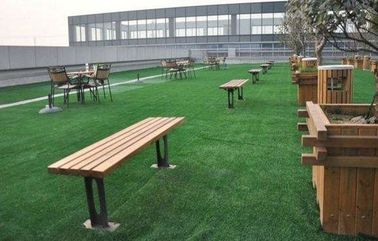 China Outdoor Luxury Roof Artificial Grass Drainage Structure Soft Fake Grass factory