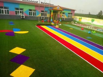 Outdoor Polyethylene Sports Artificial Grass Different Colors Low Maintenance