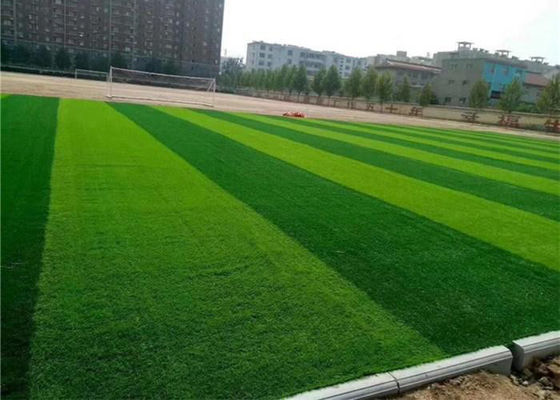 Adhesive 50mm Height Artificial Soccer Grass For Football