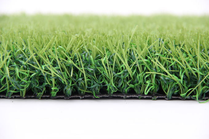Outdoor Landscaping Synthetic Grass  Double S Type Design Wear Resistant