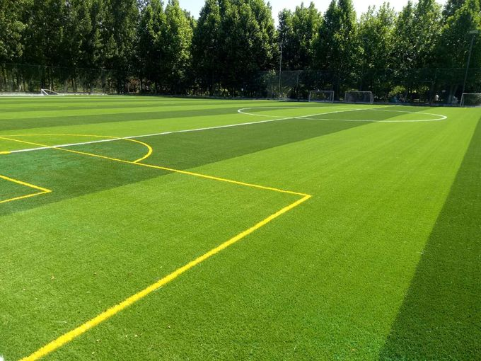 Comfortable Football Synthetic Grass /  Premium Fake Grass For Playground