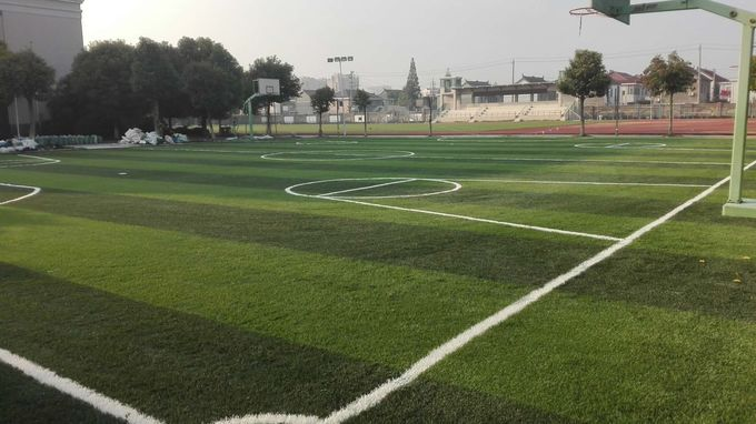Eco Friendly  Playground Synthetic Grass / Outdoor Artificial Grass Playground Surface